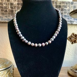 Jewelry - Smoked oyster faux Tahitian pearl beaded necklace